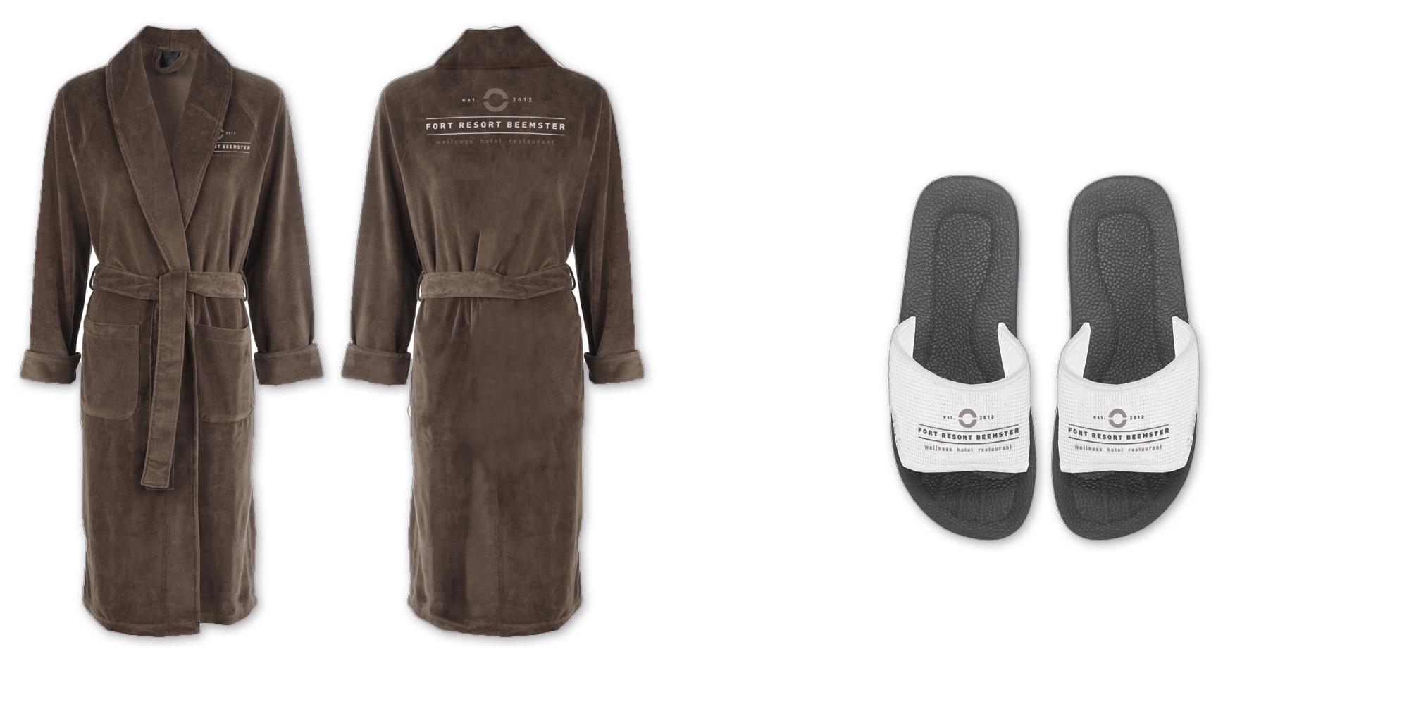 Fort Resort Beemster - Bathrobe and slipper design