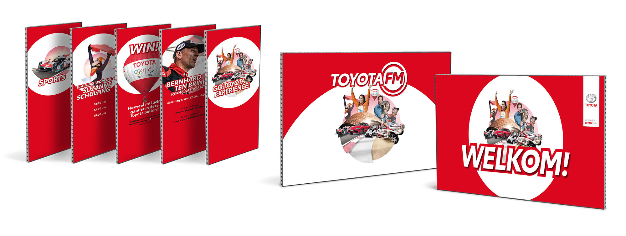 GO Toyota Experience 2019 - banners