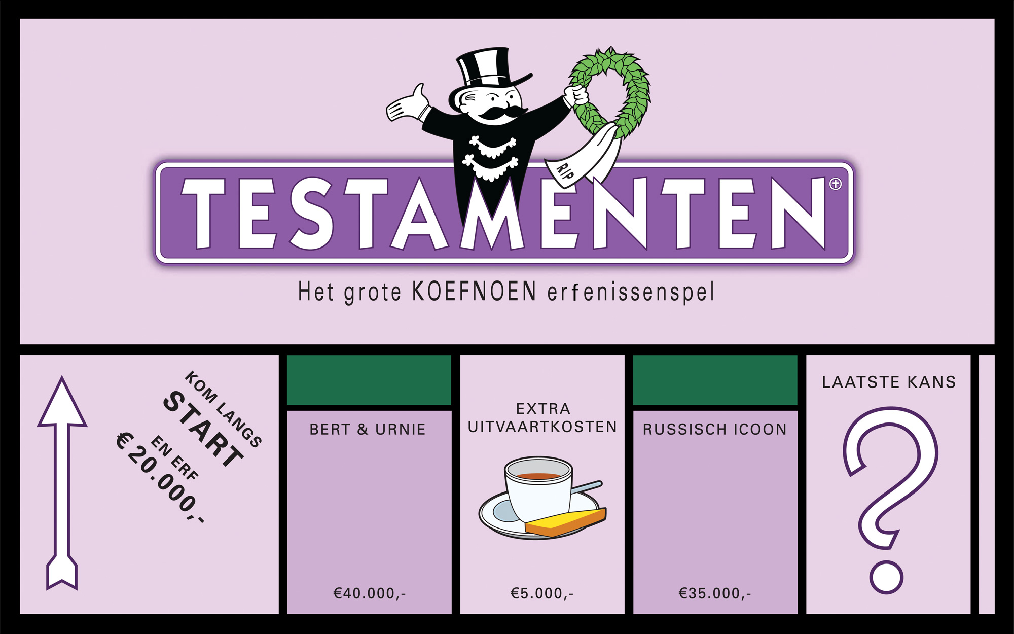 Boardgame prop box: Game of inheritance - Testamentenspel