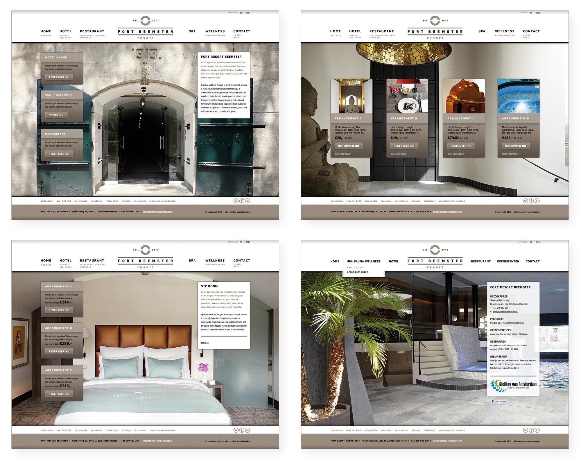 Fort Resort Beemster - website - initial design